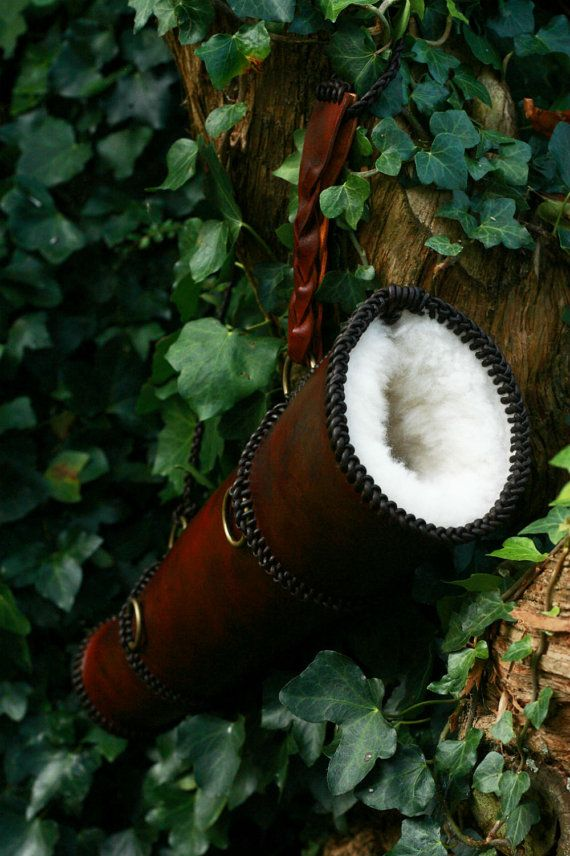 Medieval Leather Braided Archery Quiver by MortuusBestia on Etsy, £124.00