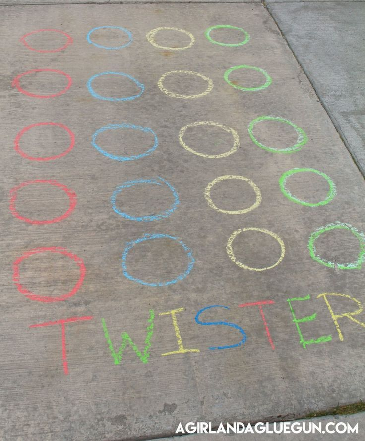 Outdoor twister game. Perfect for the kids during the summer time.
