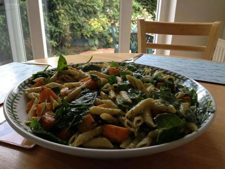 Roasted butternut squash penne with pistachio pesto - photo by Angela ...