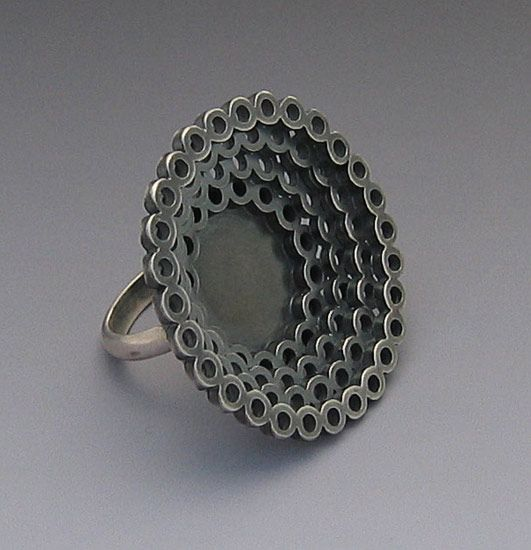 Large Lace Ring: Elisa Bongfeldt: Silver Ring