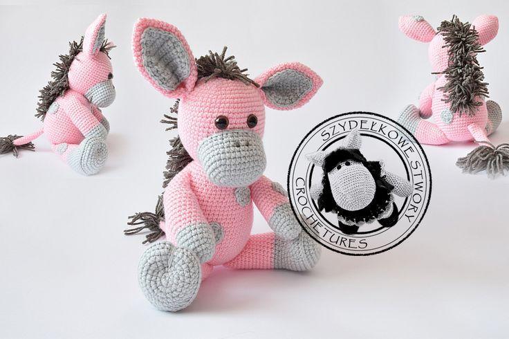 Agnieszka Mężyk, Szydełkowe Stwory, osiołek www.polandhandmade.pl #polandhandmade #crochet #amigurumi