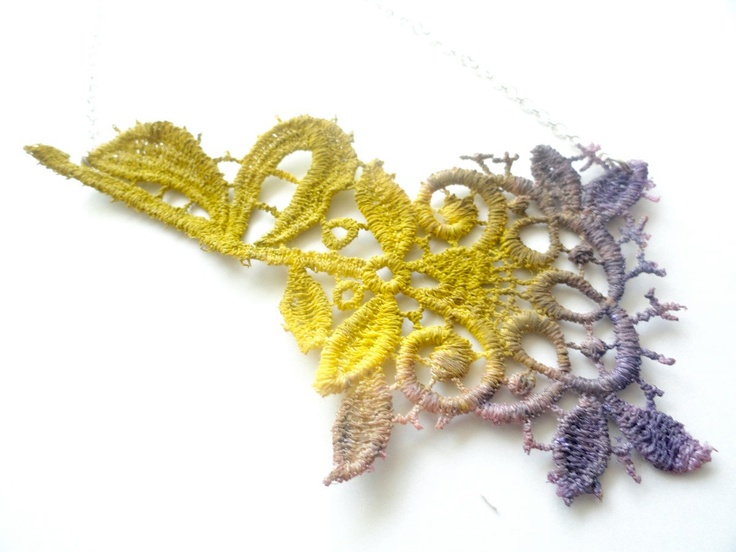 Lace Necklace Hand Painted