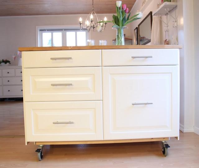 Barbros lille atelier: Hjemmelaget kjøkkenøy