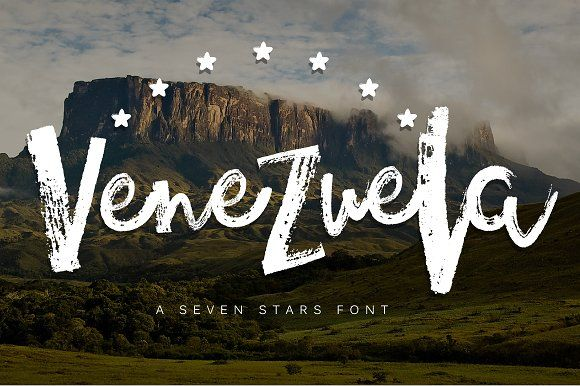 Venezuela - Dry brush font by Latin Vibes on @creativemarket