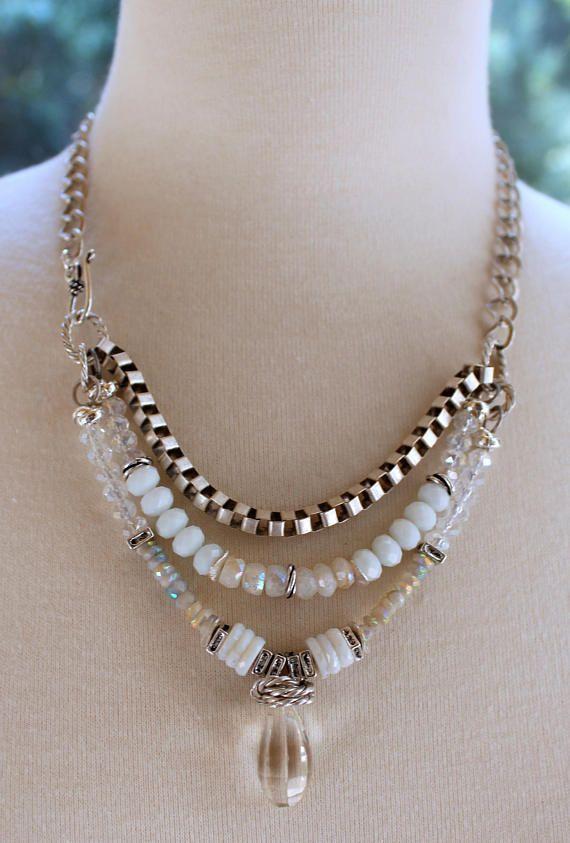 collar collar de piedra de luna arco iris moonstone collar
