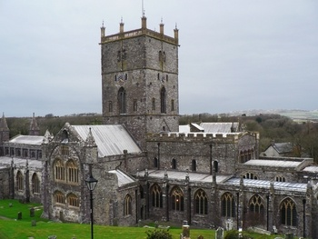 St. David's Cathedral in Wales, one of Britain's oldest cathedrals, stands on the site of a 6th-century monastery founded by Dewi (David), a Celtic Christian monk.    Considered the holiest site in Wales due to its relics of St. David, the cathedral was a major pilgrimage destination throughout the Middle Ages. It remains a thriving church today.