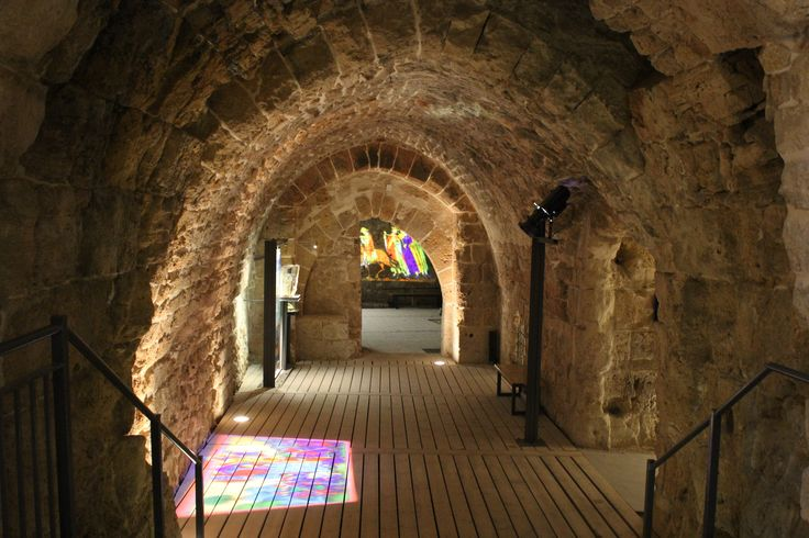 Crusaders halls in the ancient port city of Acre http://www.eggedtours.com/galilee-golan-heights/caesarea-acre-rosh-hanikra.aspx
