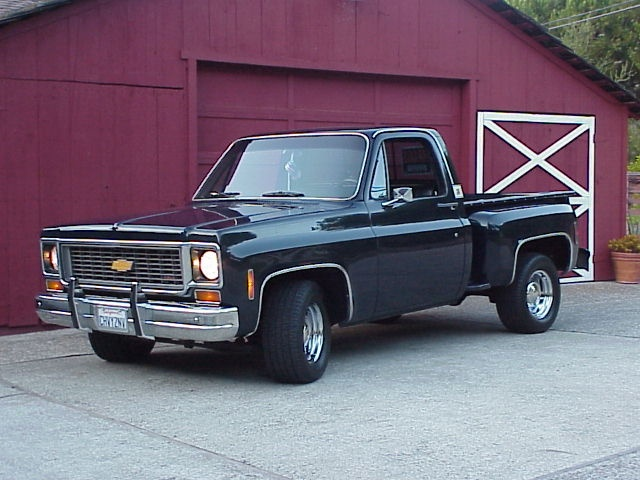 '86 Chevy Stepside <3 my truck back home that misses me looks like this! Can't wait to get my hands greasy when I go home!!