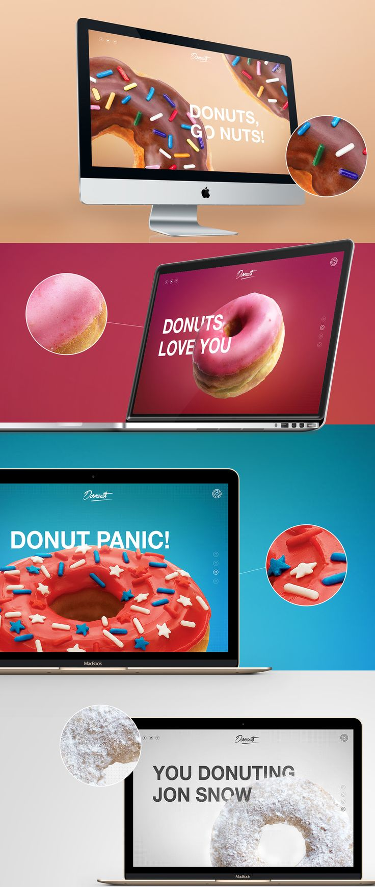 Donuts #webdesign #colorful #website #design