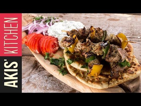 Pork Souvlaki with Bell Peppers | Akis Petretzikis