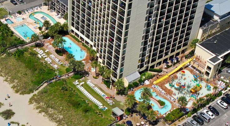 $55 This oceanfront Myrtle Beach resort features 9 swimming pools, which includes a water park, indoor lazy river, and 2 indoor hot tubs as well as free WiFi.