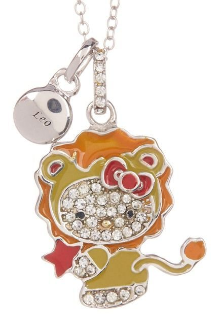 Hello Kitty Zodiac Sterling Silver Pave Crystal Enamel Leo Pendant Necklace!   affiliatelink  ad  hellokitty  hk  sanrio  necklace  pendant  leo  zodiac  ... 894efa22d