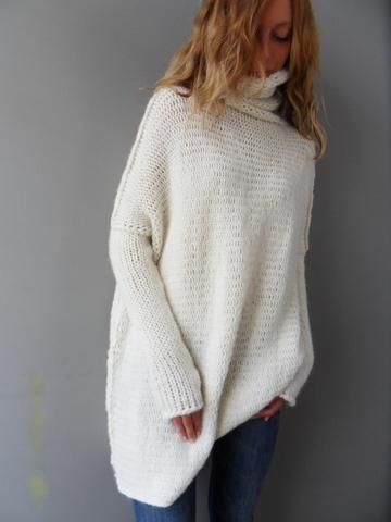 41107d911 Alpaca Oversized Chunky Loose knit women sweater . Relaxed fit