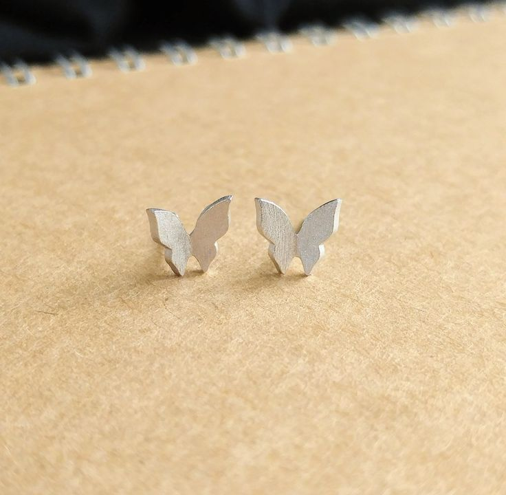 925 Sterling silver 3D Butterfly Earring by ThoughtsAccessories on Etsy