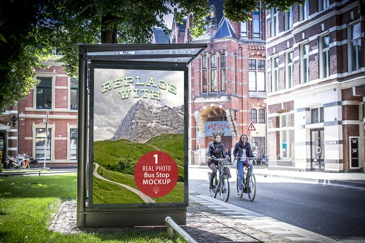 Bus Stop Mockup by Fresh Design Elements on @creativemarket