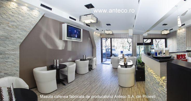 Producatorul de mobila din lemn masiv Anteco S.A. din Ploieti fabrica mese din lemn masiv pentru cafenea si pentru secorul HORECA