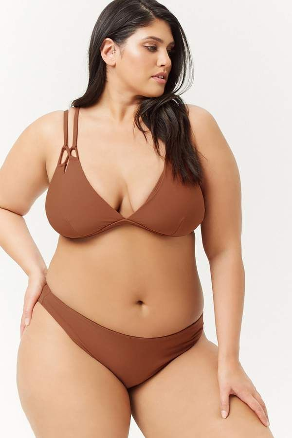 434174155b Forever 21 Plus Size High-Cut Bikini Bottoms forever21plus   plussizeswimwear  sponsored