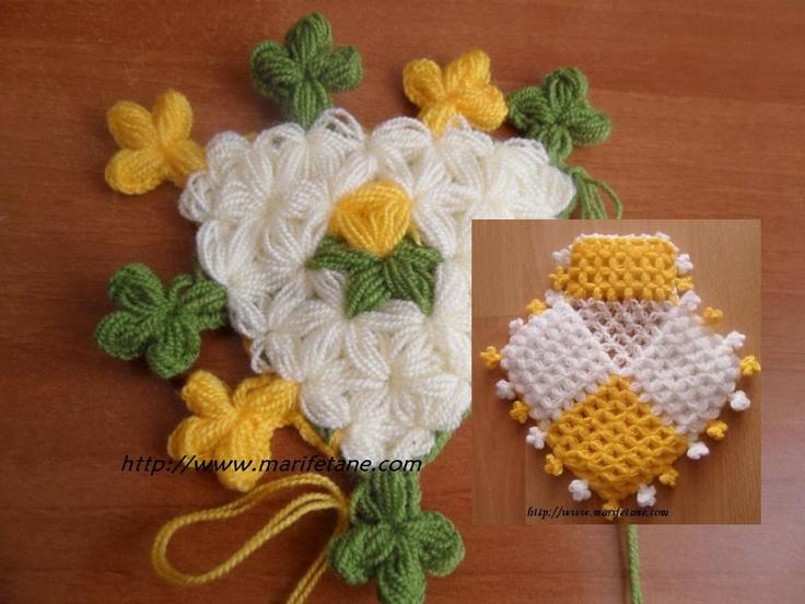 Lif Kenarına Çiçek Motifi Nasıl Yapılır..?:http://www.marifetane.com/