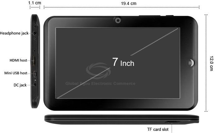 GL5201 7013 Android 4.0 Tablet PC 7 inch Capacitive Screen Actions 7013 1.2GHz