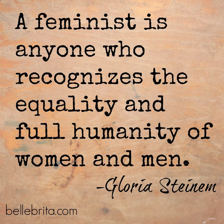 Gloria Steinem on #feminism