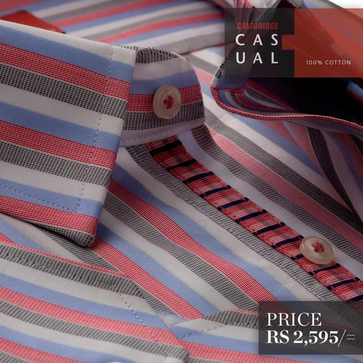 Semi-formal pure cotton shirts. Available in stripes and checks - White/Blue ..!! Shop Now : http://goo.gl/oTkcEm
