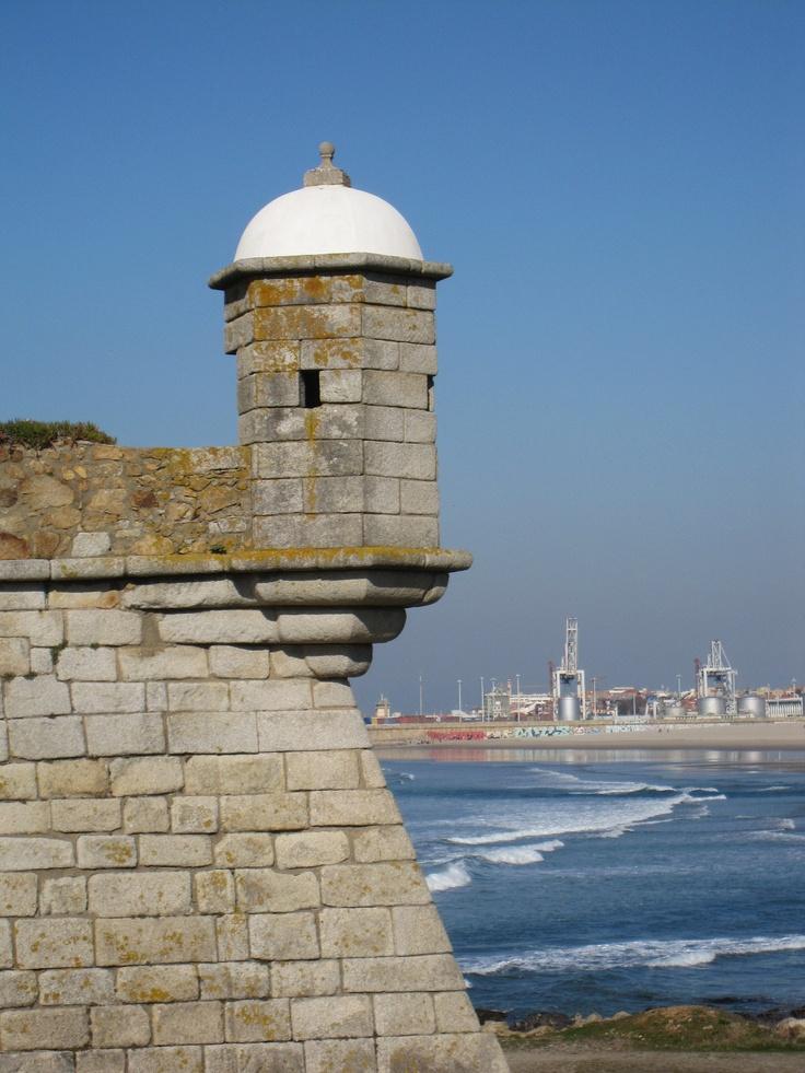 "At the back, with a wonderful view to ""Porto de Leixões"".: Cheese Castle, Porto De, Wonder View, De Leixõ, Chee Castles, Queijo Cheese"