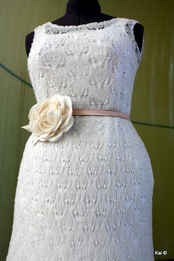 Wedding dress inspired by Haapsalu shawl