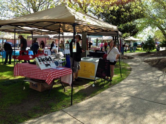 The market is open and airy, but with plenty of vendors.