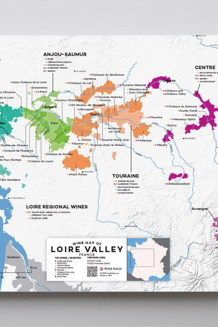 Sancerre France Map.France Loire Valley Wine Map In 2019 From Our Official Store