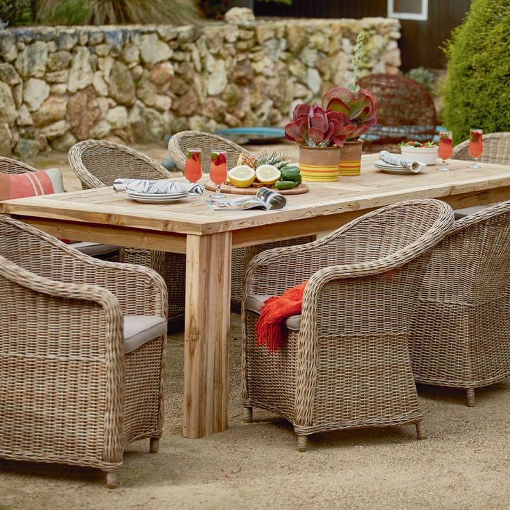 Toulon Table with 8 Verdun Chairs Package - Packages - Outdoor Early Settler
