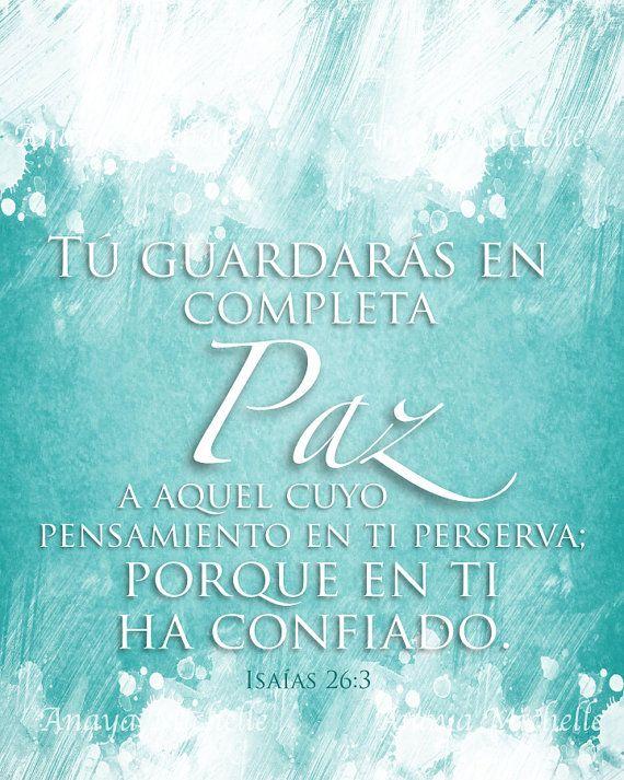 SPANISH Isaiah 26:3 / Isaías 26 / Textos by AnayaMichelleDecor