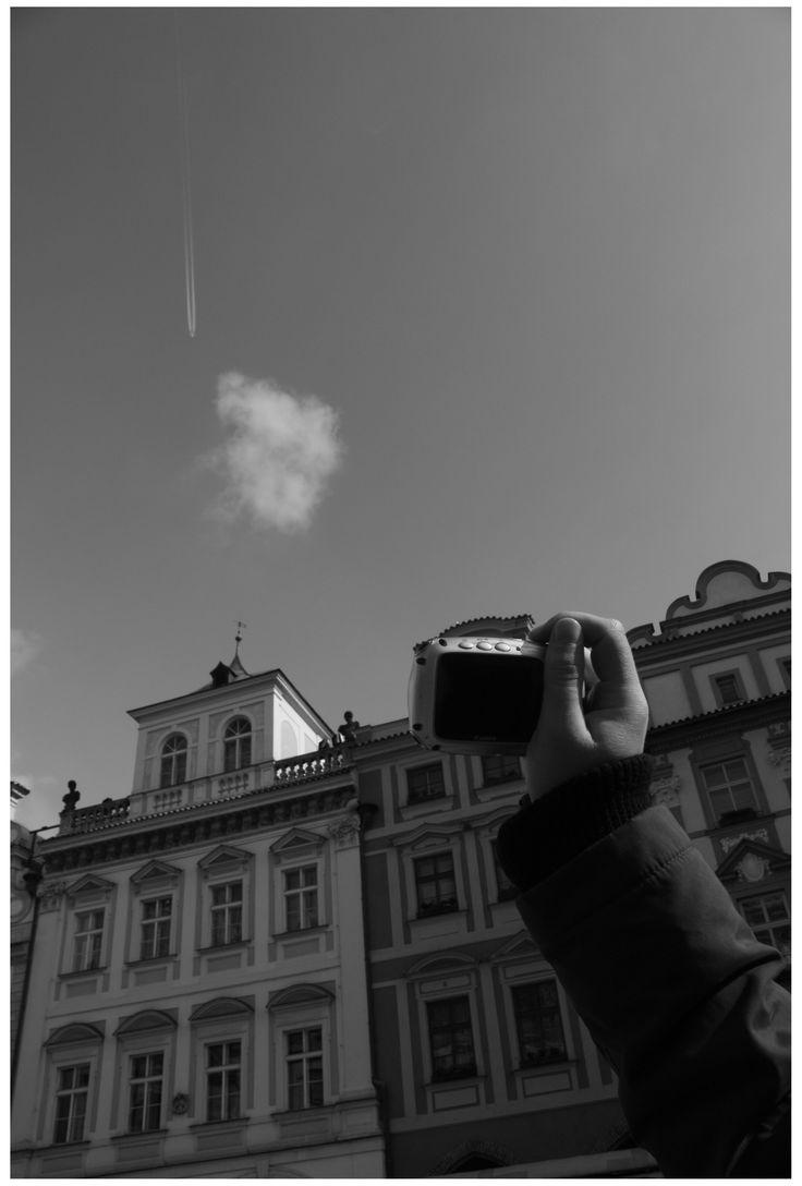 Photo by me. Photo: Diána Rigó Czech Republic, Prague #CzechRepublic #Prague #Praha #photography #BlackAndWhite #sky #cloud #photo