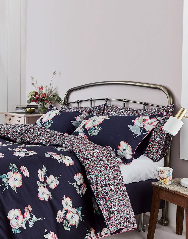 Painted poppy Painted Poppy Duvet Cover  | Joules UK