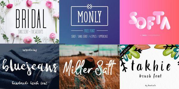 16 typographies gratuites pour combler vos créations typographies qui ont marqué le mois de mai 2017 avec une sélection de 16 projets à télécharger gratuitement.