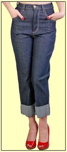 Rockabilly capris: Capri Fashionista, How To Style Jeans Capri, 1950S Style, Art Rockabilly, Waist Jeans, Ally Jeans, Capri Style, Vintage Style, Rockabilly Capri