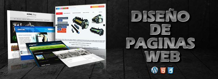Diseño web, piezas graficas para web, material y contenido web