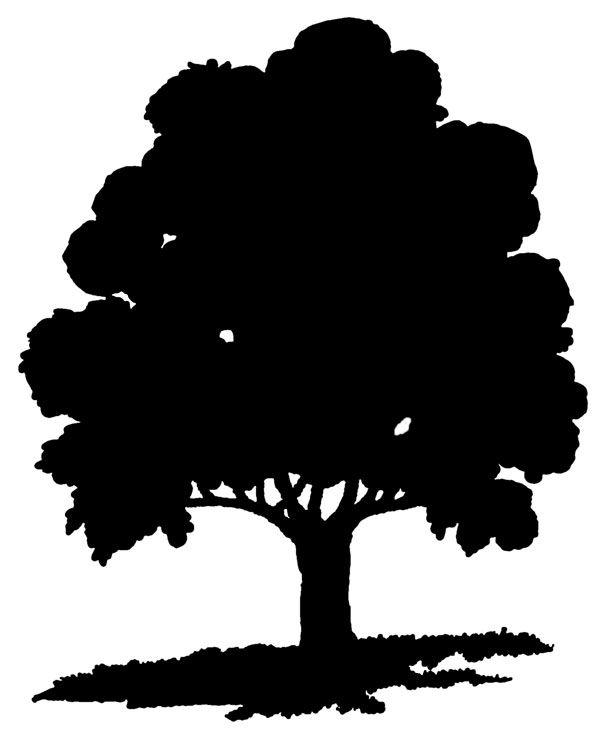 clip art tree silhouette - photo #13