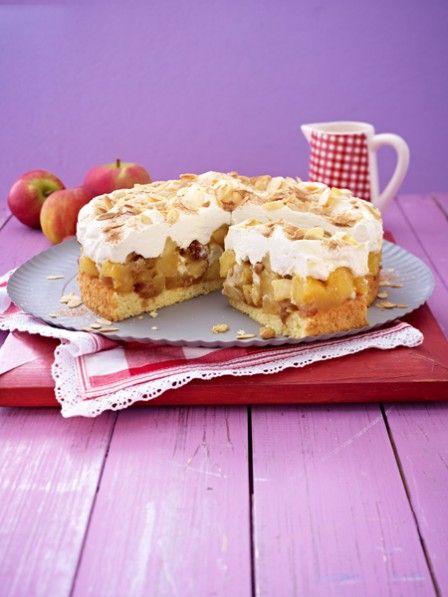 Gebratene Äpfel im Kuchen - mit Zucker und Zucker verfeinert. Und unter einer sahnigen Schmandcreme gebettet. Unsere Bratapfeltorte ist ein Gedicht.