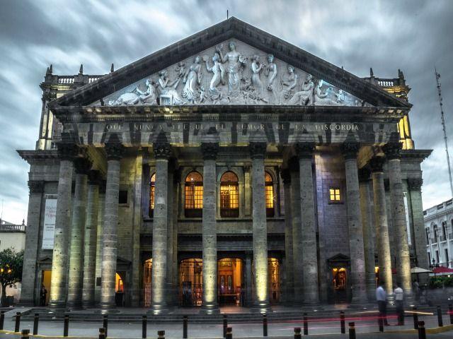 Teatro Degollado, Guadalajara, Jalisco. Foto: Aurora Uribe (CC-BY-SA 4.0)