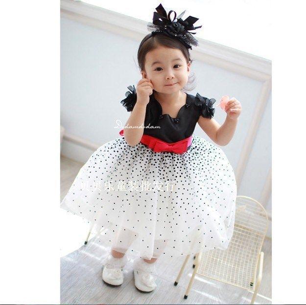 Розничные НОВЫЕ ГОРЯЧИЕ платья для девочек летом шифона бальное платье ребенок Красный бантом белый партия принцессы платье детская одежда