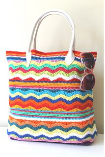 Sunny Days Beach Bag - free crochet pattern by Annaboo's House / Black Sheep Wools.