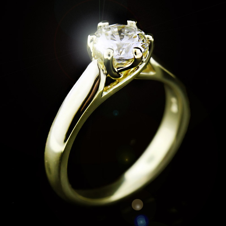 Calista Solitaire Engagement Ring. Man Made DiamondsLab ...