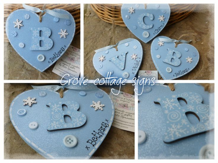 Completed order #handmade #grovecottage #hearts #woodengifts #frozen #sparkle #glitter #personalised