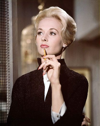 When I was younger, my mother and I watched Hitchcock movies together and swooned over the ladylike glamor of their champagne-blond bombshell heroines.  My mother was particularly enamored of Tippi…