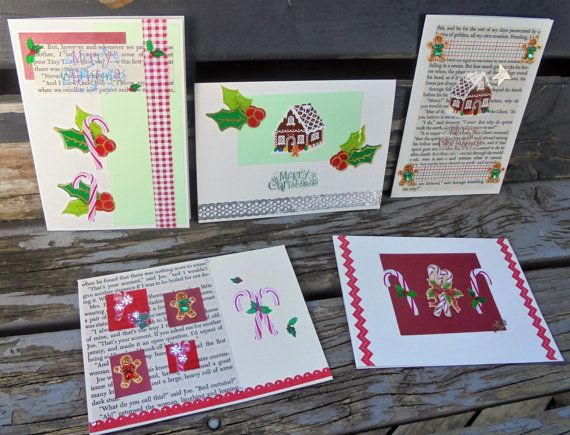 Christmas Treats  set of 5 christmas cards by RogueKissedCraft