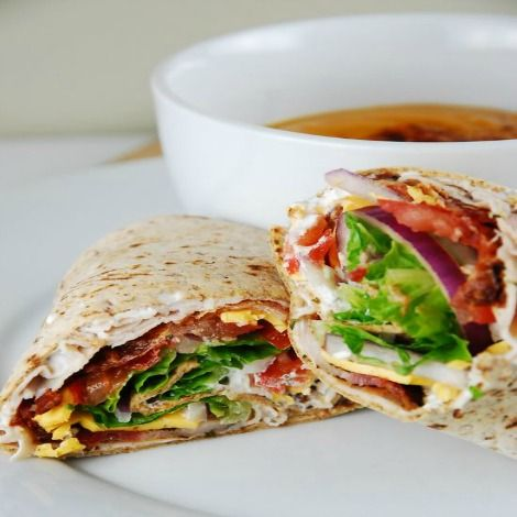 Bacon Ranch Turkey Wrap Recipe - 7 Smartpoints - weight watchers recipes