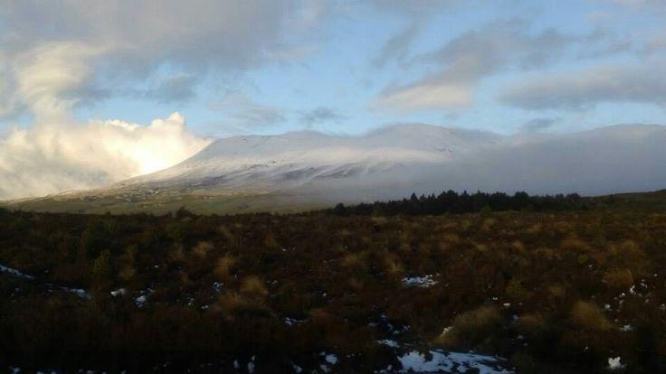Mt tongariro snow mountain