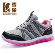 Sapatilhas Hot Sale Zapatillas Hombre 2016 New Breathable Mesh Hiking Women Wear Non-slip Sports Shoes Lace-up Damping Outdoor(China…