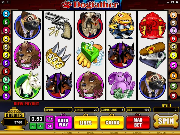 Dog Father is a Mafia-themed video slot with up to 32 500.00 in the main game. 2 650. 00 available in bonuses and 97 500.00 in Free Spins
