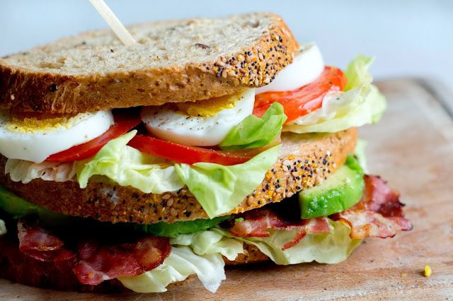 Bacon, Lettuce, Tomato, Avocado, And Egg Sandwich ...